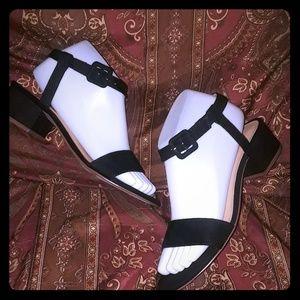 Cute & Classy Faux Suede Ankle Strap Sandal